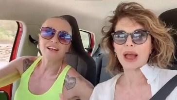 Alba Parietti e Paola Barale come Thelma&Luise a Ibiza!