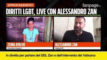 """Alessandro Zan sul DDL: """"Va approvato così com'è, parliamo della vita delle persone"""""""