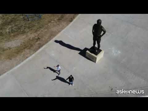 La più grande statua di Diego Armando Maradona in Argentina