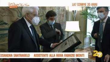 Oggi LA7 compie 20 anni, Sergio Mattarella ha incontrato i vertici dell'azienda