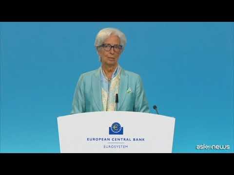 Bce, Lagarde: prosegue ripresa ma incertezza per variante Delta
