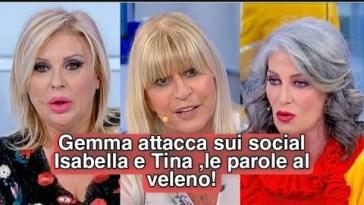 Gemma Galgani una furia sul social ,parole al veleno contro Isabella e Tina .