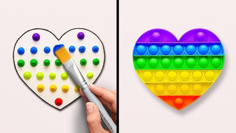 Idee stupefacenti per dipingere || Creare qualcosa di unico con cose fuori dall'ordinario