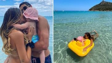 La piccola Mia compie 10 mesi: Giorgia Palmas e Filippo Magnini felici in Sardegna
