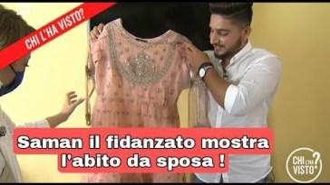 Saman Abbas ,il fidanzato mostra l'abito da sposa scelta dalla Ragazza scomparsa .
