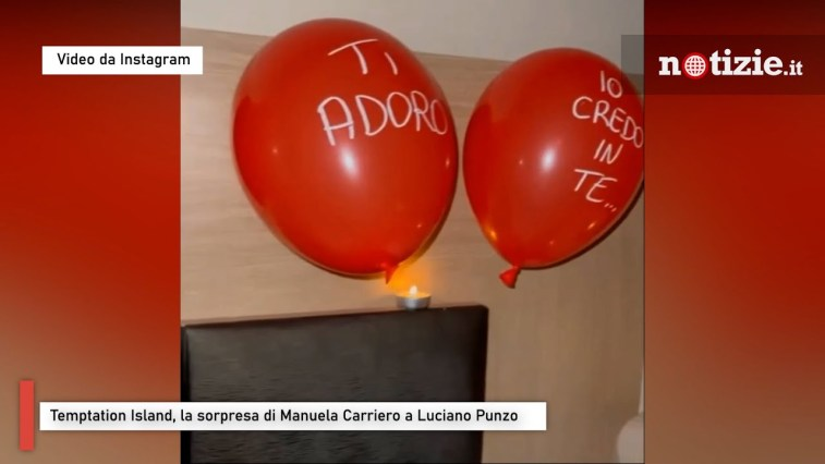 Temptation Island, la sorpresa di Manuela Carriero a Luciano Punzo