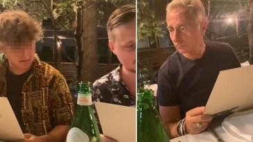 I figli di Paolo Bonolis hanno la stessa ironia del padre: la gag al ristorante