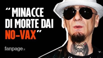 """J-Ax: """"Ricevo minacce di morte dai No-Vax, mi mandano foto di proiettili"""""""