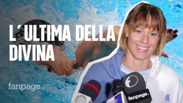 """L'ultima bracciata di Federica Pellegrini a Napoli: """"Anni bellissimi, n'è valsa la pena di tutto"""""""