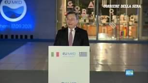 Il Presidente del Consiglio, Mario Draghi, partecipa ad Atene al vertice EU MED 9. In cors…