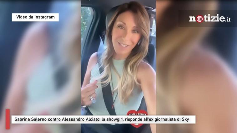 Sabrina Salerno contro Alessandro Alciato: la showgirl risponde all'ex giornalista di Sky
