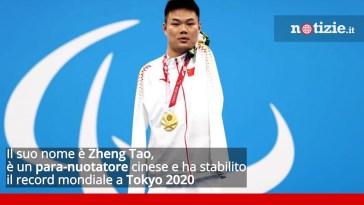 Tokyo 2020, Zheng Tao il nuotatore cinese senza braccia vince 4 medaglie d'oro