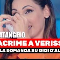 Anna Tatangelo, In Lacrime a Verissimo dopo la domanda su Gigi D'Alessio