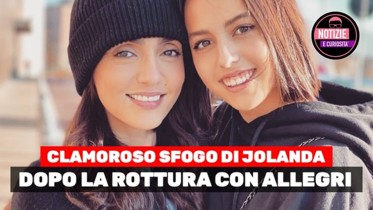 Clamoroso sfogo di Jolanda, figlia di Ambra Angiolini dopo la rottura con Allegri