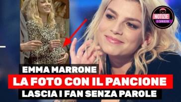 Emma Marrone, la foto col pancione lascia i Fan senza parole