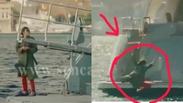 Love is in the Air ,Eda a un 'incidente cade dalla barca risulta dispersa in mare .