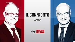 Questa sera alle 20.30 andrà in onda il #ConfrontoSkyTG24 con il faccia a faccia dei candi…