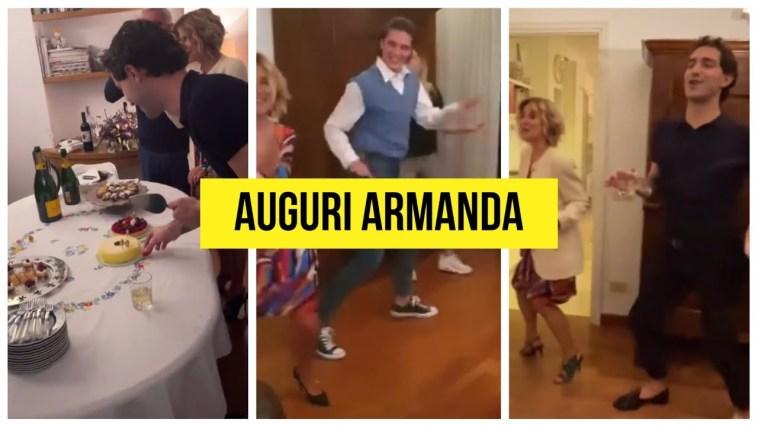 Tommaso Stanzani balla alla festa di Armanda mamma di Tommaso Zorzi #tzvip