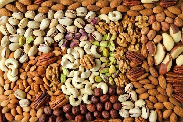 thực phẩm lành mạnh, các loại hạt, hạnh nhân