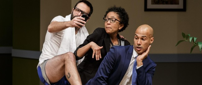 Actors Sean McIntyre, Zora Howard, and Luis Vega. Photo courtesy of Jim Carmody.
