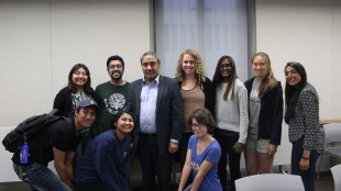 Chancellor Khosla with Muir College Council members (AJ Peterson / The Triton).