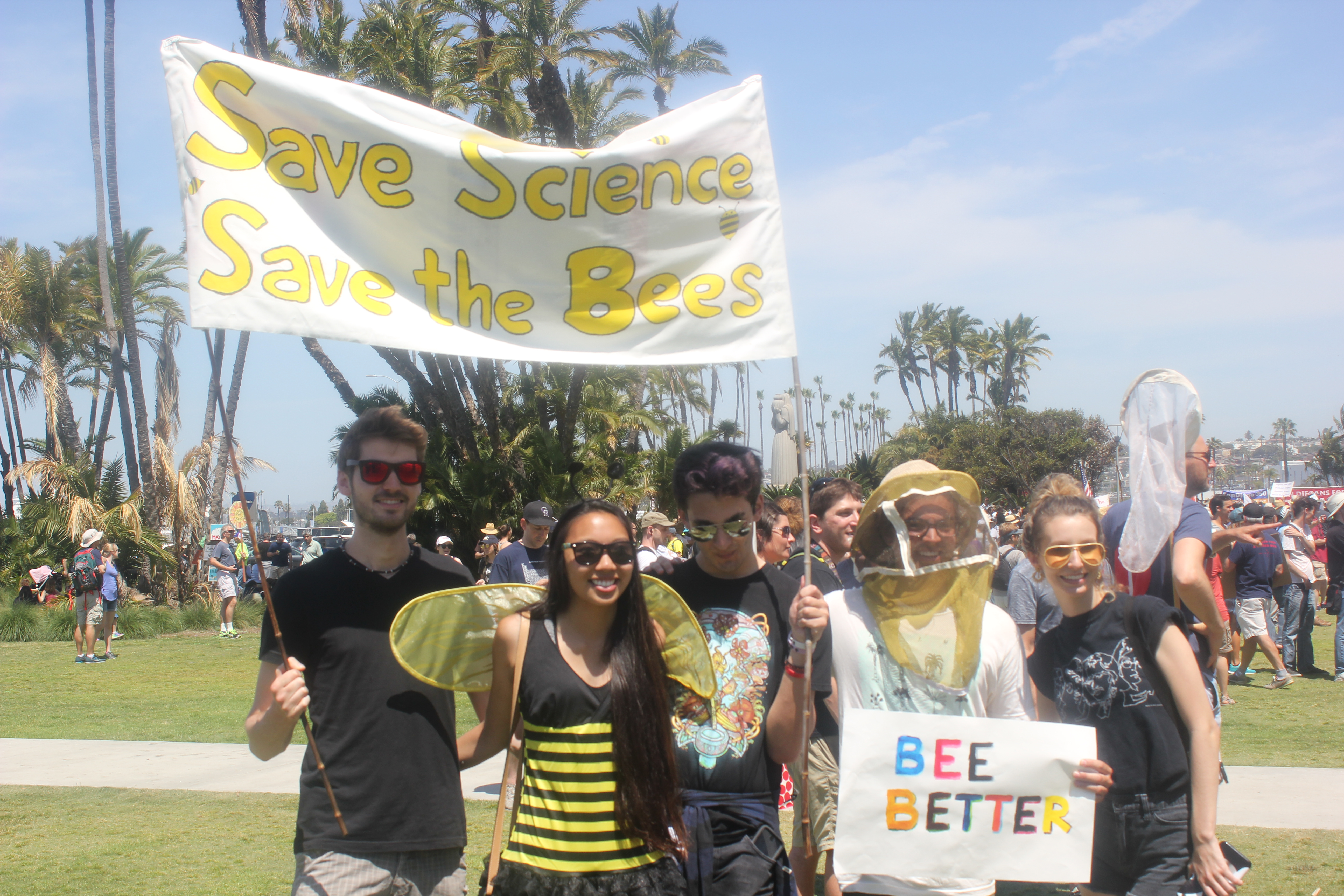 Representatives from the Dr. James Nieh Honey Bee Lab. (Connor Gorry / The Triton)