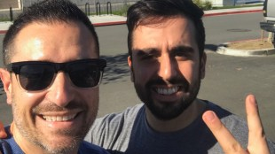 Attorney Jacob Sapochnick (left) poses for a selfie with UCSD student and DACA recipient Orr Yakobi (right) after Yakobi's release from the Otay Mesa Detention Center on Jan. 12. Photo courtesy of Jacob Sapochnick, Orr Yakobi's attorney.