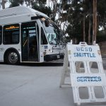 Photo of a UCSD shuttle