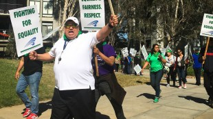 UCSD AFSCME Strike in May (Connor Gorry/The Triton)