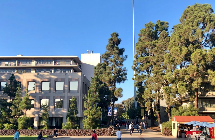 Photo of the Revelle Plaza.