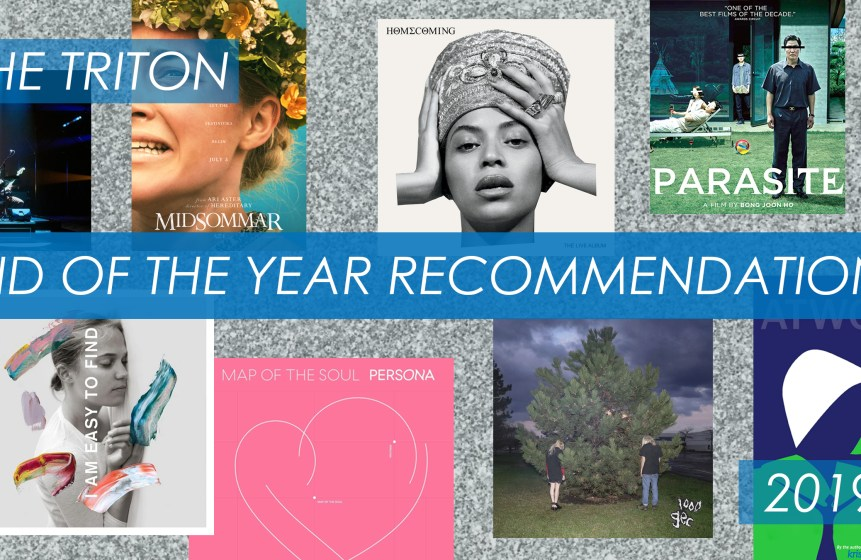 Covers for The Triton's end of year arts and culture recommendations