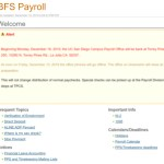 Screenshot of the UC San Diego payroll website