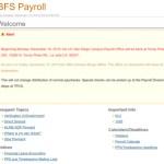 Screenshot of the UC San Diego payroll website