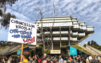 Cost of Living Adjustment (COLA) Rally In Front of Geisel Library