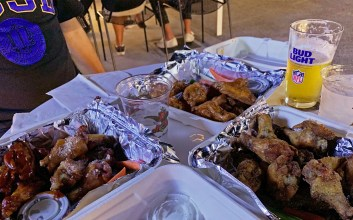 Photo of chicken wings at Dirty Birds UCSD location.