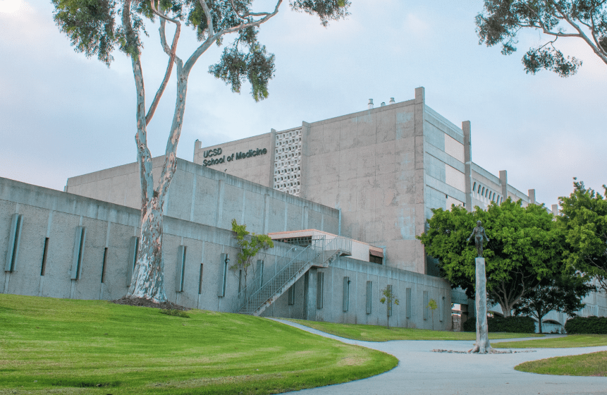 A photo of UCSD Medical School.
