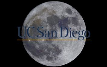 Moon with UCSD logo.