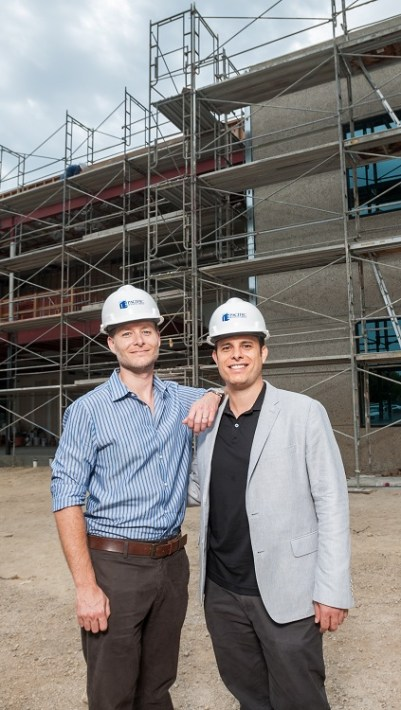 (l to r) iboss co-founders and brothers Peter Martini and Paul Martini, '01. (Photo by Xavier Bailey)