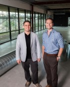 Brothers in Business: (l to r) iboss co-founders Paul Martini, '01, and Peter Martini (Photo by Xavier Bailey)