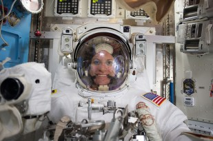 Expedition 48 Commander Jeff Williams and Flight Engineer Kate Rubins (pictured) of NASA conducted a five-hour and 58-minute spacewalk on Aug. 19, 2016.