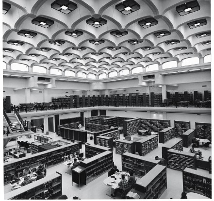 Undergraduate Library in the Humanities Building 1966