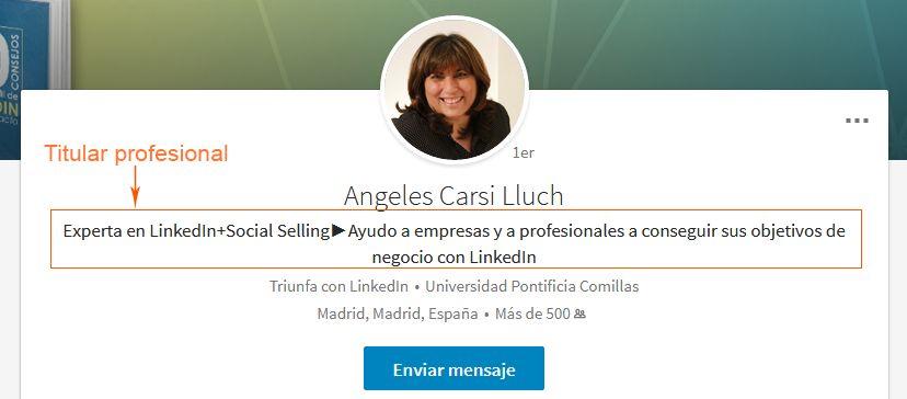Titular profesional: ejemplo de Ángeles Carsi