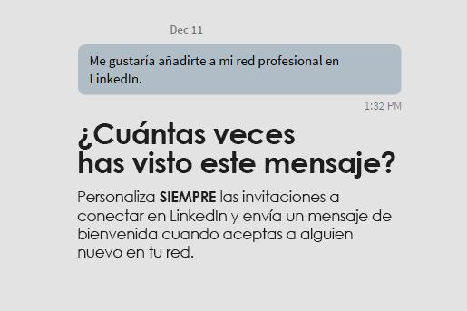 Consejo LinkedIn: personaliza tus invitaciones