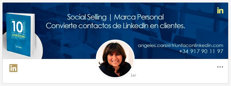 Imagen de fondo en LinkedIn: Ángeles Carsi