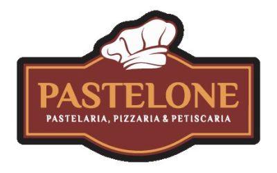 Camiseta personalizada para Pastelaria, Pizzaria e Petiscaria PASTELONE , da cidade de XV de Novembro – RS. Modelo Masculino com Gola Pólo e modelo Feminino com peitilho Feminino.