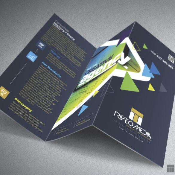 Web Design Bucuresti - Triveo Media Flyer