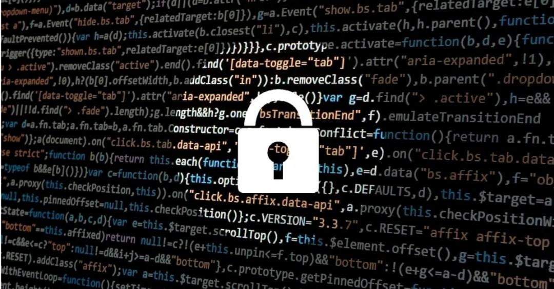 illustration of lock over html code