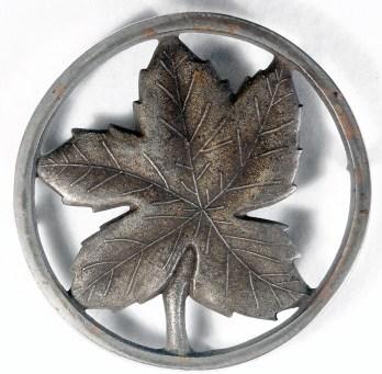 "Late Ober Leaf: 5 3/8"" diameter, NPCI"