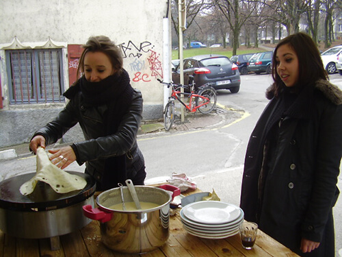 Crémaillère du local au 15 rue du Grand Charmont à Besançon