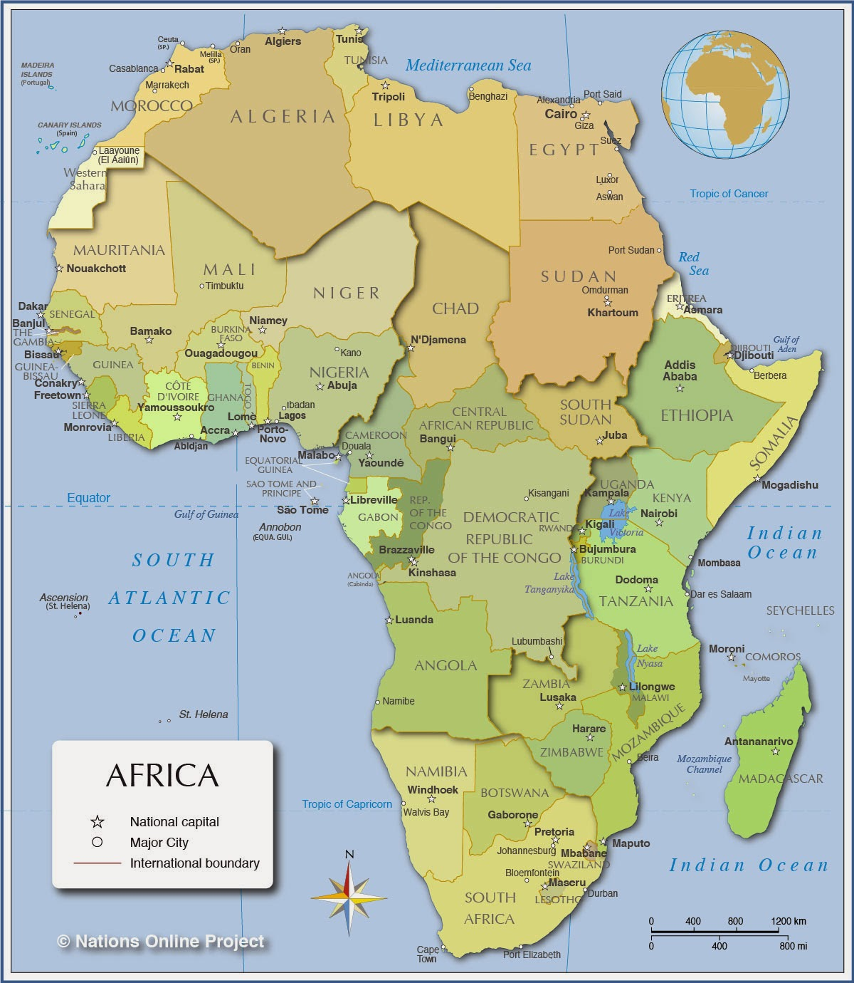 There Are 3 Countries In Africa That Have 4 Letters In